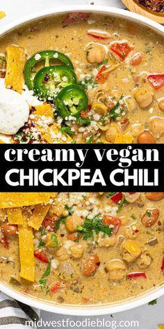 Vegan Soups, Vegan Dishes, Vegan Vegetarian, Vegetarian Recipes, Healthy Recipes, Vegan Meals, Vegan Chili Recipes, Soup Recipes, Whole Food Recipes