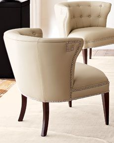 Global Views Creamy Leather Scoop Chair $1038.90