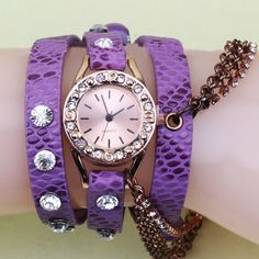 Wrap Watch, Zinc Alloy, with Full Grain Cowhide Leather & Glass.