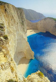 Greece. Shipwreck beach on the Ionian sea