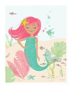 Another great find on #zulily! Pink Mermaid Print by Sea Urchin Studio #zulilyfinds