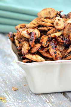 Sesame Roasted Pumpkin Seeds TheHealthyApple.com #glutenfree #recipe #healthy