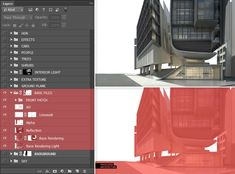 Photoshop Post Sketch Layers Management Tutorial – Art Drawing Tips Road Texture, Tower Building, Lights Background, Big Picture, Interior Lighting, Step Guide, Software, Layers, Management