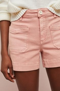 Pilcro Ultra High-Rise Skinny Denim Shorts   Shorts For Vacation