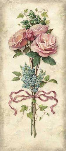Best Ideas For Vintage Flowers Painting Ana Rosa Decoupage Vintage, Decoupage Paper, Vintage Diy, Vintage Labels, Vintage Cards, Vintage Paper, Vintage Postcards, Vintage Images, Art Floral