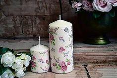 Λάμπες και κεριά - Shabby Chic ανθισμένη κεριά - 3119516