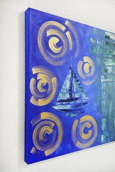florida art for sale of nautical paintings at laelanie art gallery Nautical Painting, Nautical Art, Sailboat Art, Sailboats, Abstract Art For Sale, Blue Abstract, Art In Miami, Oil Painting For Sale, Coastal Art