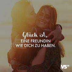 Visual Statements®️ Glück ist, eine Freundin wie dich zu haben. Sprüche / Z... - #dich #eine #Freundin #Glück #haben #ist #Sprüche #Statements #Visual #wie #zu