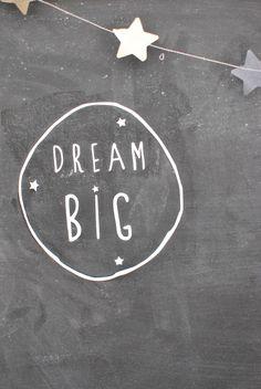 "Image of sticker ""dream big"" from simplyfactory.bigcartel.com"