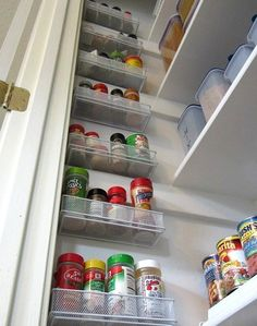 Innovative Spice Storage Solution: Hang Drawer Organizers On Your Pantry Wall