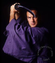 Steven Seagal - Aikido Master....Action packed celebrity who has studied the martial art form of Aikido