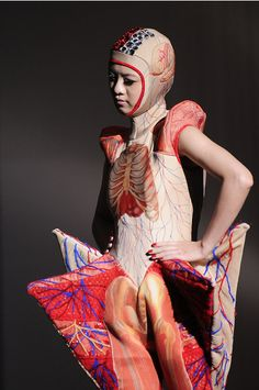 Anaomy Fashion. Designed by Taiwan's Shih Chien University's fashion students