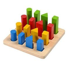 Plan Toys Learning Toys Geometric Peg Board - years (a) Ingredients : Safety Info :