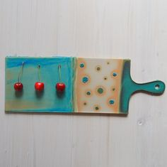Stoneware serving board cheese serving board snack by PotsbyNives