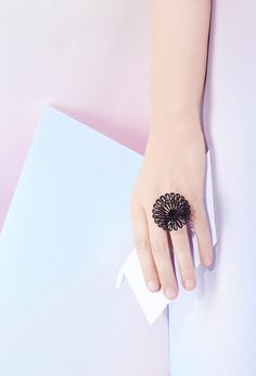 3D Printed Round Diamond Shaped Ring  MYBF ring 1  by Maison203, €25.00