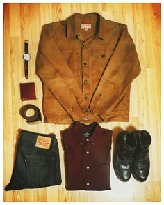 boots, denim, and one headlight — OOTD Filson Short Cruiser Jacket Citizen Eco Drive...