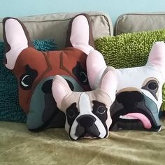 French Bulldog pillow Personalized Frenchie Gift French Bulldog stuffed plush toy Frenchie art Bulldog lover birthday gift / 4PawsFashion