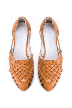 Womens Tan Woven Flat Huarache Sandals // US di OliveThomasShoes, $185.00