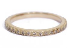 18K Yellow Gold Champagne Diamond Stack Ring (0.20 TCW) Bezel Ring, Black Sapphire, Champagne Diamond, Silver Rounds, Stacking Rings, Band Rings, Bangles, Jewels, Sterling Silver