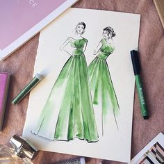 fashion illustrator #fashionillustration  #art @katenastas_illustration
