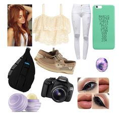 """""""..."""" by bands4life-5sos ❤ liked on Polyvore featuring H&M, Frame Denim, Kavu, Sperry Top-Sider and Eos"""