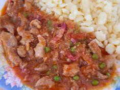 Borsos tokány nokedlivel recept lépés 5 foto Fried Rice, Grains, Ethnic Recipes, Food, Essen, Meals, Seeds, Nasi Goreng, Yemek