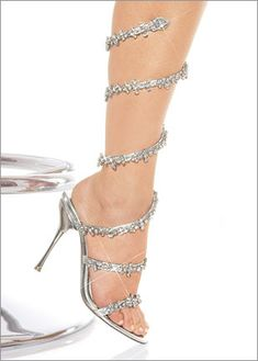 Glacidia would love these bewitching shoes - like crystal snakes climbing up your legs.