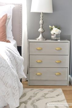 Some of our solid brass Victorian style pulls are featured on an IKEA hack over at LiveLoveDIY!