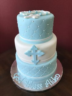 First Holy Communion Cake First Holy Communion Cake, Cross Cakes, Baptisms, Holi, Pregnancy, Birthday Parties, Babies, Party, Desserts
