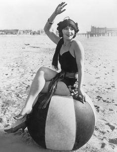 1920's beach ball babe.