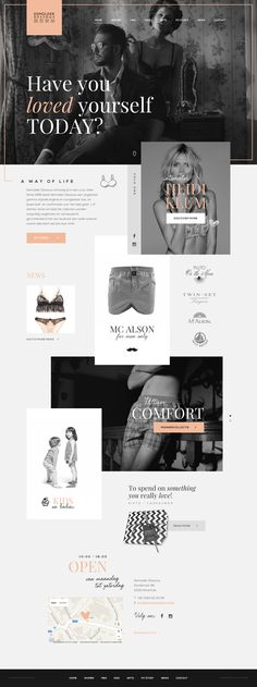 #webdesign #graphic #design for #lingerie #store Demolder Dessous in Herentals #antwerp - Webdesign by https://www.weblounge.be