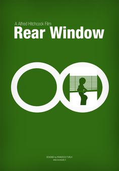 Rear Window   Minimal movie poster   Francesco Turlà