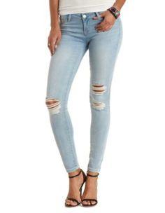 """Refuge """"Skin Tight Legging"""" Destroyed Skinny Jeans"""