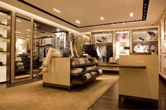 93bee650cf1 luxury store · Ill like a walk in wardrobe like this! Burberry boutique in  Paris Boutique Decor