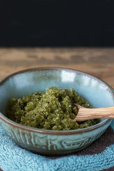 Easy #Recipe for Matcha Mint Body Scrub + A Giveaway for A Bag of @kissmeorganics #Matcha Powder on An Unrefined Vegan.