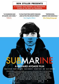 supper enjoyed this. Go Richard Ayoade! (and by Richard Ayoade, I mean Moss, of course! Richard Ayoade, Submarine 2010, Submarine Movie, Talia Shire, Brad Renfro, Andy Garcia, Ian Mckellen, Anthony Hopkins, Movie Posters
