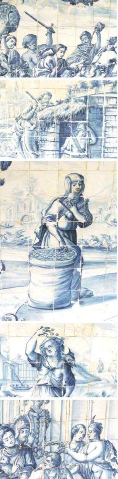 detalhes do painel de azulejos do Convento de São Francisco – Salvador – Bahia