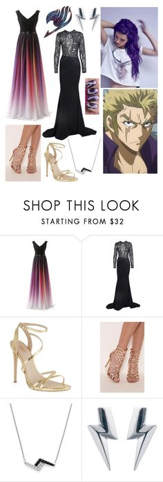 """""""Laxus x Emmaline- ball room"""" by darkwolf15 ❤ liked on Polyvore featuring Carvela, Dana Rebecca Designs and Edge Only"""