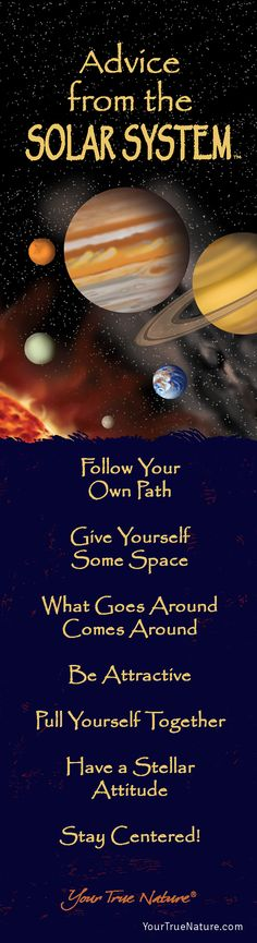 Advice from the Solar System- Bookmark- Your True Nature