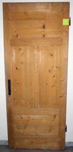 Porta antica in larice massello cm213x87(88) sverniciata (una di 2) - perfetta -   eBay