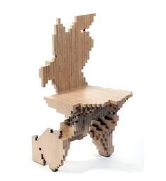 By EZCT Architecture & Design Research, Jelle Feringa. Studies on optimization, 2004. Computational chair evolved by application of genetic algorithms, a team effort created in Paris where Centre Pompidou acquired one of these 25 different chairs.