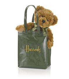 Harrods - Bear in Green Bag
