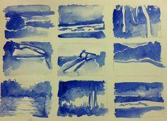 1 minute value sketches of landscapes