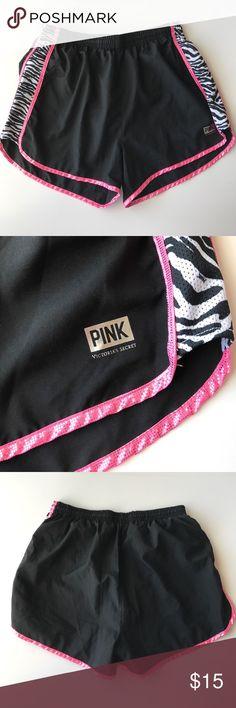 PINK Running Shorts Worn a few times, no flaws! PINK Victoria's Secret Shorts