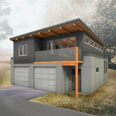 Type: Two Storey laneway house Bedrooms: 2 Baths: 1 Areas: Floor: 918 sq ft Floor: 760 sq ft Total Living Area: 760 sq ft Width: Depth: Carriage House Plans, Small House Plans, House Floor Plans, 1 Bedroom House Plans, Garage Apartment Plans, Garage Apartments, Apartment Ideas, Casa Bunker, Plan Garage