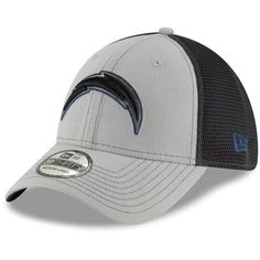 reputable site d0f9e 488b4 Men s Los Angeles Chargers New Era Gray Graphite Two-Tone Sided 39THIRTY  Flex
