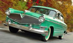 1956 Hudson Hornet via doyoulikevintage Classic and antique cars. Sometimes custom cars but mostly classic/vintage stock vehicles. 50s Cars, Retro Cars, Vintage Cars, Vintage Models, Hudson Car, Hot Rods, Hudson Hornet, Sweet Cars, Unique Cars