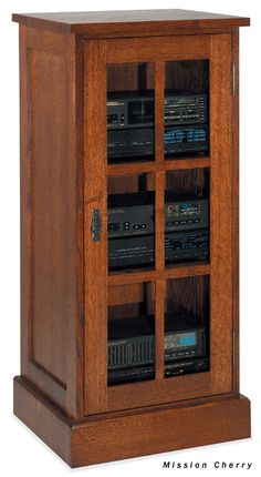 Store and protect your stereo in this Axium espresso audio cabinet ...