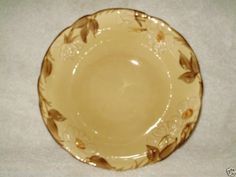 Cafe Royal Franciscan Serving Bowl Dish Earthenware Raised Flowers 9 Inches