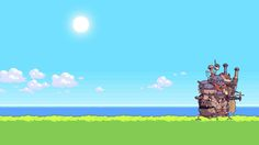 Only awesome Howls Moving Castle Wallpapers for desktop and mobile devices. 8 Bit Iphone Wallpaper, 2017 Wallpaper, Hd Anime Wallpapers, Live Wallpapers, Zelda Hd, Howls Moving Castle Wallpaper, Monument Valley Game, Cloud Illustration, Castle Background